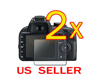 2x Clear LCD Screen Protector Guard Cover Film For Nikon D3100 Camera