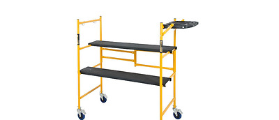 Mini Rolling Scaffold 500 lb. Load Capacity Tool Shelf Ladders Steel Sets Swivel