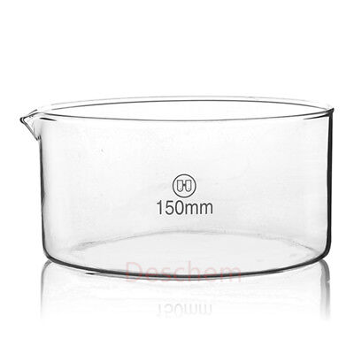 150mm*75mm,Glass Crystallizing Dish,Heavy Wall,New Lab Chemistry Glassware