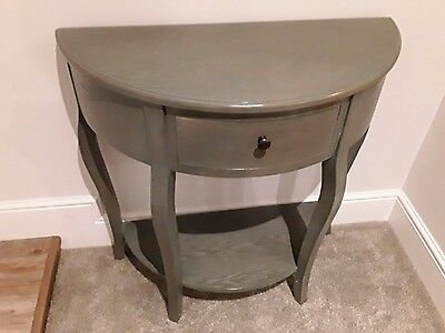 Console Table Furniture Shabby Chic French Antiqued Grey Drawer Shelf