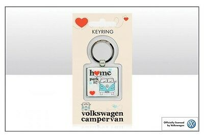 VW 'Home is where you park it' campervan epoxy keyring  - Licensed Product