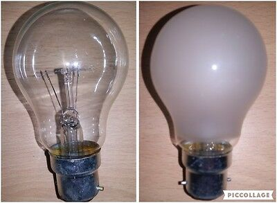 4 x 150w Clear Or Frosted/Pearl/Opal GLS Light Bulbs BC Bayonet Cap B22 Push In
