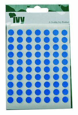 Pack of 490 Blue Dot Stickers 8mm Sticky- Labels Stationery Office School