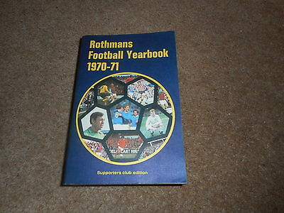 Rothmans Football Yearbook 1970-71 - 1st Year - Supporters Club Edition