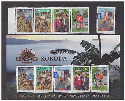 Australia Papua New Guinea joint issue 2010 Military, War set sheet mint stamps