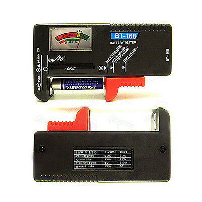 Universal Battery Tester Checker Fits AA AAA 9V Button Cell Battery