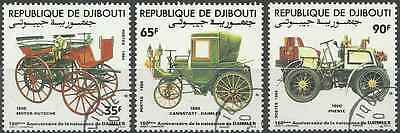 Timbres Voitures Djibouti 591/3 o lot 6307