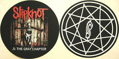 SLIPKNOT DJ SLIPMAT FILZMATTE .5 THE GRAY CHAPTER 2er SET
