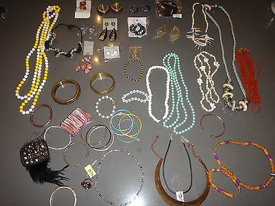 fashion jewellery bulk lot necklaces, earrings, bracelet mix more than 40 items