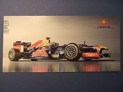 Sebastian Vettel F1 Genuine Autograph Hand Signed 8x4 Card Red Bull Racing