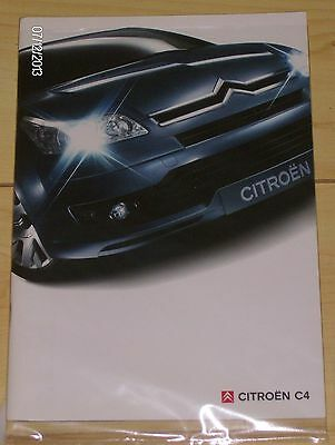 CITROEN C4  SALES BROCHURE  2005  #CitC401