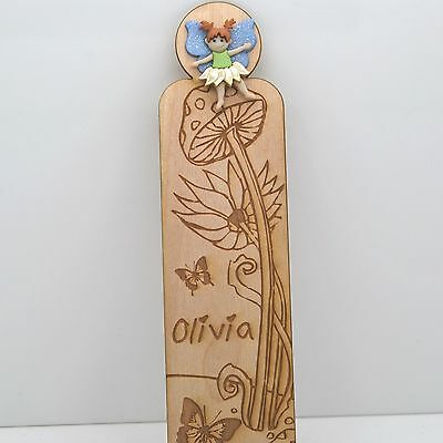 Personalized Flower Fairy Bookmark - Any Name - Great Gift!