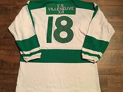 1990s Villeneuve XIII RLLG Leopards Match worn Rugby League Shirt Adults Large