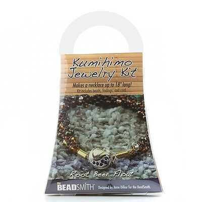Beadsmith Kumihimo Jewellery Making Necklace Beads Kit Root Beer Float (G58/2)
