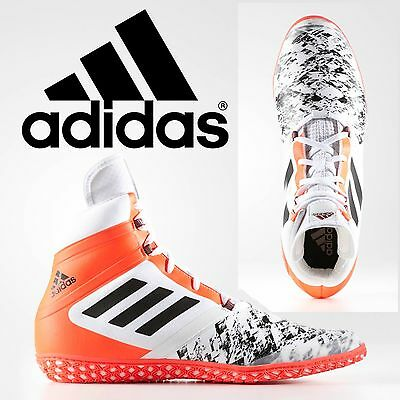 Adidas Flying Impact White Red Wrestling Shoes Specialist Light Weight Control
