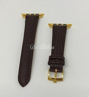 BAND 42MM Apple Watch 20mm BAND Gold plated ROLEX buckle