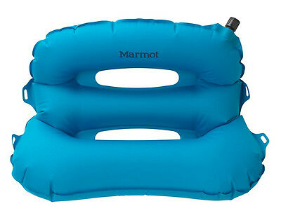 Marmot Strato Pillow Ceyton Blue Inflatable Lightweight Compact Camping Travel
