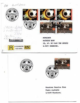 LUXEMBOURG ( FIFA WORLD CUP GERMANY 2006 ) FDCs 21/05/2006