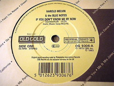 """Harold Melvin - If You Don't Know Me By Now / Don't Leave Me This Way  7"""" Vinyl"""