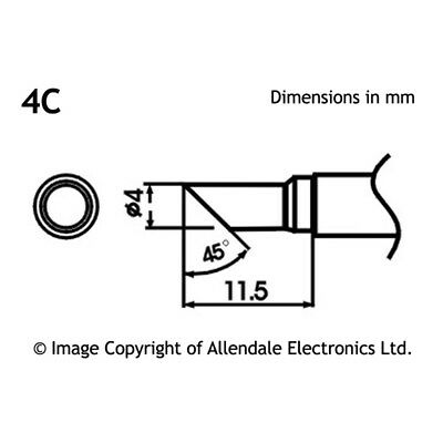 Aoyue LF-4C Chisel Type Solder Tip with Heating Element