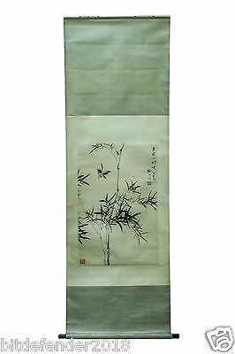 A CHINESE SCROLL PAINTING (bamboo)