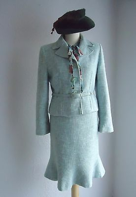 1940's WWII Vintage Style Suit.  Jacket Size 16 Skirt Size 10