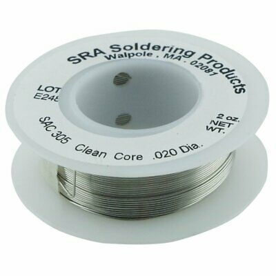 Lead Free No Clean Flux Core Silver Solder SAC305 0.5mm 57g Reel