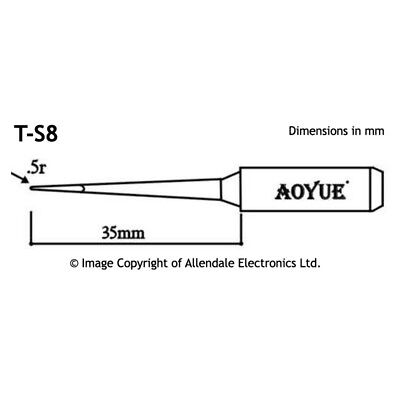 Aoyue T-S8 Conical Type Solder Iron Tip for 936 937+ 768 968
