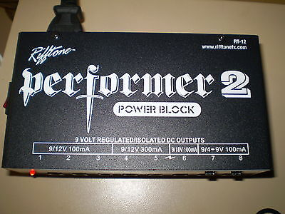 Rifftone Performer 2  Power Block 9/12/18V Options Isolated Outputs New!