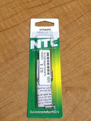 Thermal Fuse / Cut-Off - 72 C, 162 F, 15A - NTE8070