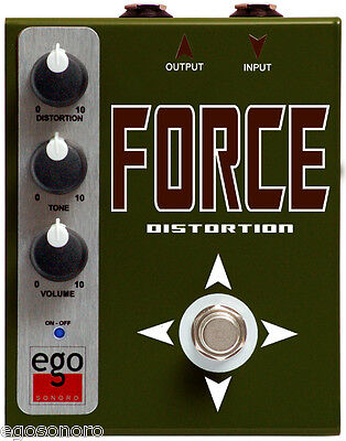 EgoSonoro FORCE distortion guitar pedal