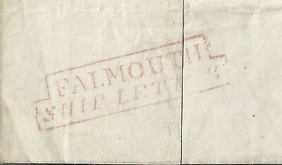 Falmouth Ship Lettter 1833 with Add ½d to Dundee