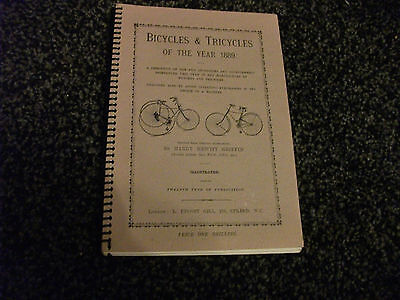 bicycles and tricycles of the year 1889