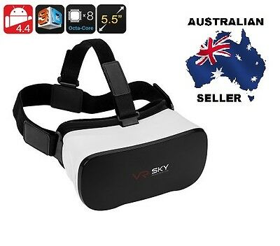 Android 3D Enabled Virtual Reality Glasses - 5.5 Inch FHD Display, 1080p, Octa-C
