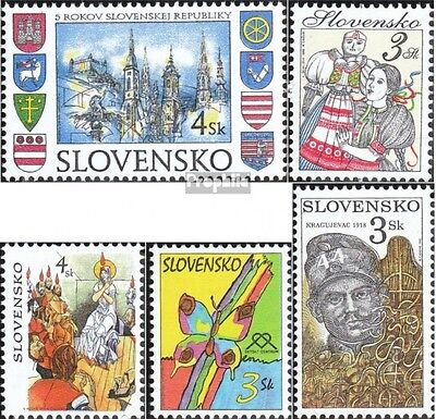 Slovakia 300,305,310,311,312 (complete.issue.) unmounted mint / never hinged 199