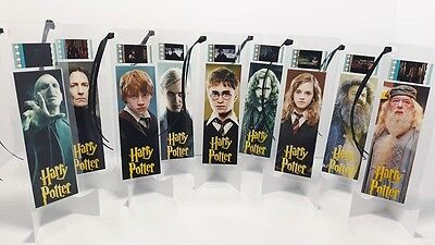 HARRY POTTER Lot Set of 9 Movie Film Cell Bookmarks Cinema Collectibles Gift