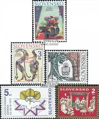 Slovakia 236-237,239,240,242 (complete.issue.) unmounted mint / never hinged 199