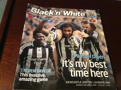 Newcastle United v Sunderland 20/4/2008