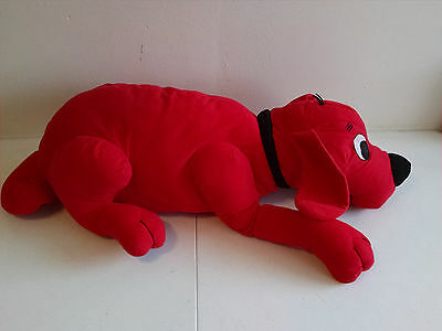 Extra Large Stuffed Plush CLIFFORD THE BIG RED DOG Laying Scholastic