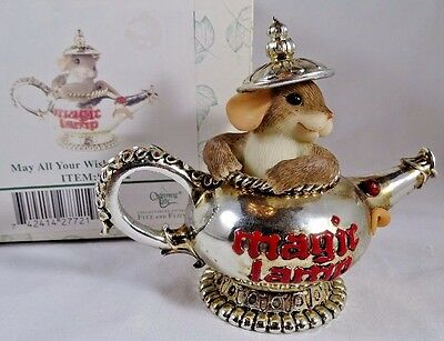 Charming Tails  Figurine May All Your Wishes Come True Genie Lamp