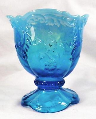 Intaglio Spooner Blue Opalescent Glass Northwood 235 Early American Pattern 1899