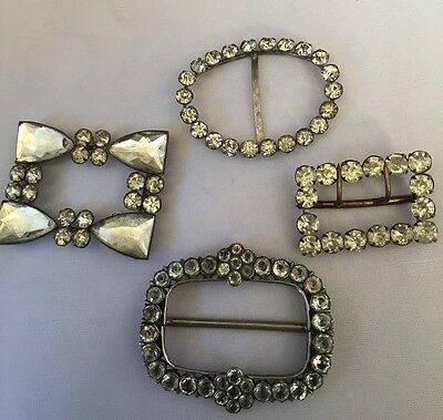 A Beautiful Collection Of 4 Antique/ Vintage Belt Buckles.