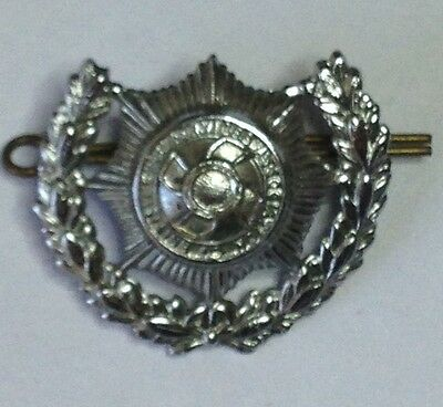 Original British Fire Service Association White Metal Badge