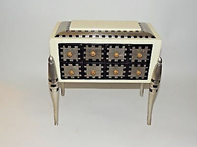 Vintage Hand-Painted Petite Miniature Chest of Drawers Art Deco