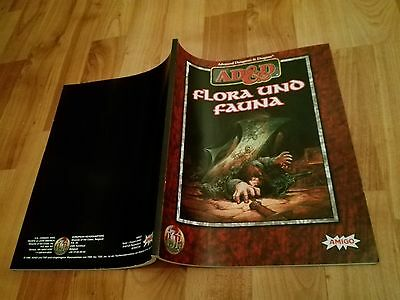 Flora Und Fauna Heft Ad&d Tsr  Advanced Dungeons & Dragons Ad&d Fast Neuwertig