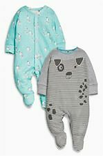 BNWT Next boys Mint Dog Character Sleepsuits Two Pack size 9-12 mths