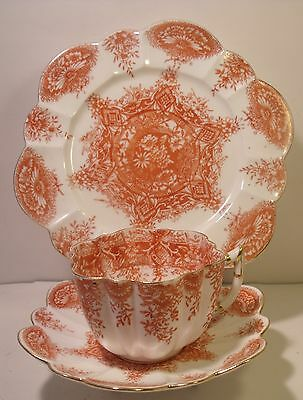 Wileman Foley (Shelley) Trio Cup, Saucer And Side Plate 6237 (10)