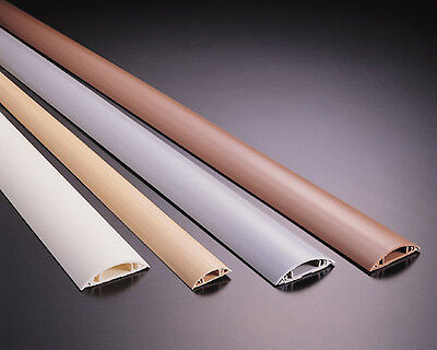 1m Floor Cable channel PVC oder ALU self adhesive in various Spread