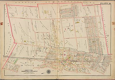 BERGEN COUNTY COPY ATLAS MAP ENGLEWOOD BROMLEY LEONIA 1913 G.W NEW JERSEY