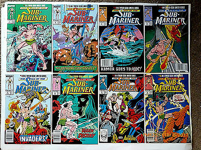Marvel Comics The Saga Of The Sub-Mariner #1-6, 8 & 10 Comic Book Set!